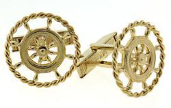 Ships Wheel Nautical Cufflinks