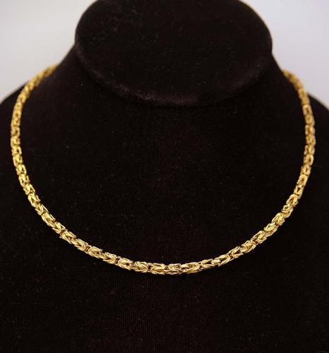 Opulant Byzantine Link Gold Chain, 20.5in