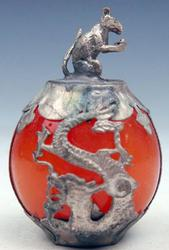 Dragon Phoenix Overlay Chinese Feng Shui Ball