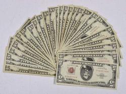 30 x $5 Red Seal Notes, Circ
