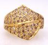 Free-Style Diamond Ring in Gold, Size 6.75