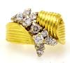 Dazzling 1CTW Diamond Cluster Ring in 18K Gold, Size 5.5