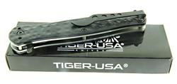 Tiger USA Black Pocket Knife
