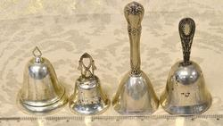Group Lot of 4 Silver Bells, Sterling