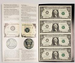 1995 Minneapolis $1 FRN Uncut Sheet of 4