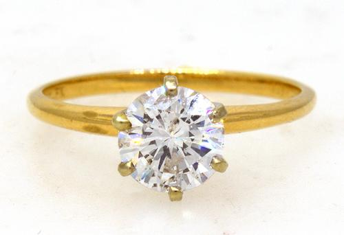 1.2CT Round Brilliant Diamond Solitaire Ring, Size 6.5