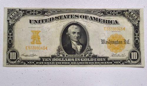 Great 1907 $10 Gold Certificate, Circ
