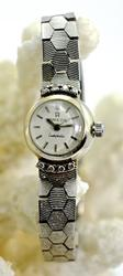 Vintage 18K White Gold Ladies Omega Watch