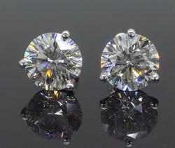 Martini Style Leo Diamond Earrings