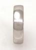 Men's Platinum Open Circle Ring w/ Diamonds, Size 8.75