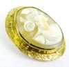 Antique 10K Gold Cameo Brooch