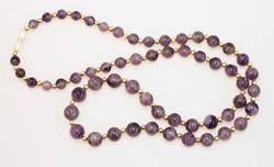 24-Inch Natural Amethyst Necklace