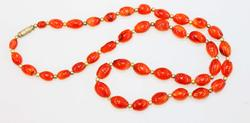 Glossy Carnelian Necklace