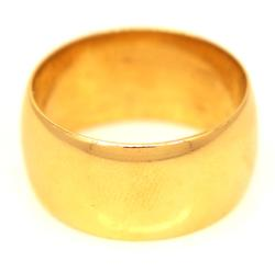 Men's Wide 18K Gold Band, Size 9