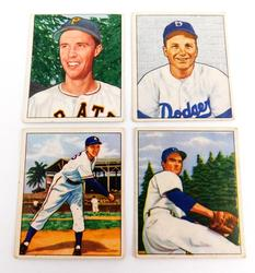 4 Bowman 1950 Baseball Picture Cards