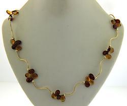 Garnet and Citrine Briolette Necklace