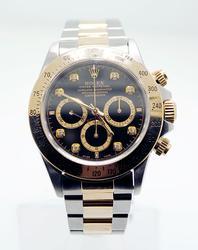 Gents 18K/Stainlees Steel Rolex Daytona W/ Diamonds
