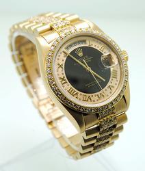 Gents 18K Rolex Presidential With Diamond Dial, Bezel, Bracelet
