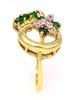 Free-Form Diamond & Emerald Ring in Gold, Size 6