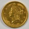Needle-sharp 1853 US Type One $1 Gold Piece. Nice