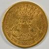 Scarce key date 1868-S Ty 2 $20 Liberty Gold Piece. AU