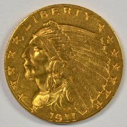 Nice 1911-P US $2.50 Indian Gold Piece