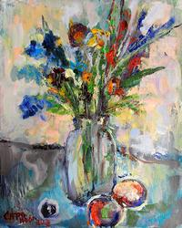 Highly Textured oil By Russina Artist Safonova