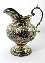 Gorgeous Hand Chased Antique Kirk Silver Pitcher