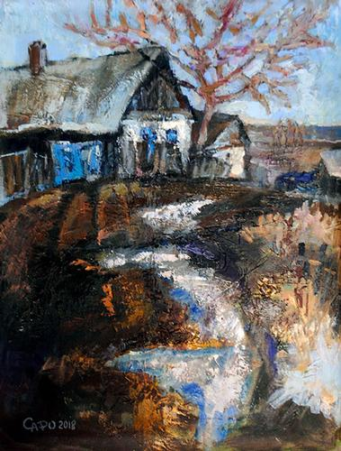 Detailed Original Oil By Russian Artist Safonova