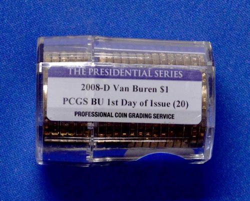 PCGS FDOI BU 2008-D Van Buren $ 20 Coin Roll