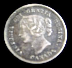 Rare Small 1899 Canada 5 Cent Coin