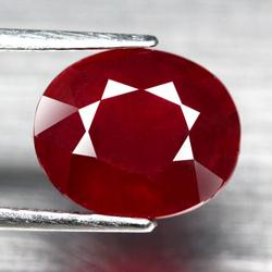 Captivating 5.46ct oval cut blood red Ruby
