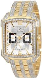 Bulova Chronograph, Covered in Swarovski Crystals, NEW
