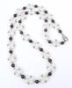 Pretty Necklace of Pearls, Garnets & Sterling