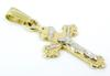 Petite 14K Gold Crucifix Pendant