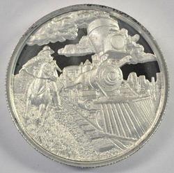 Cameo P-L 'Lawless' pure .999 silver 2 oz. Locomotive