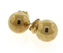 Yellow Gold Ball Earrings