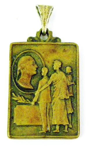 Early Bronze Citizenship Award Medal or Pendant
