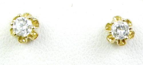 High Quality 14K Diamond Stud Earrings, .50 CTTW