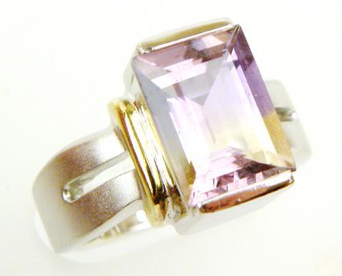 Fine Sterling Ring with Bi-Color Ametrine