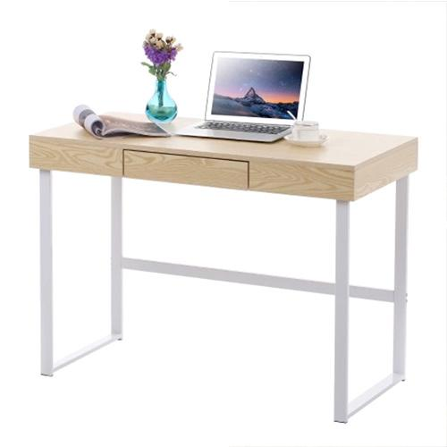 Modern Metal Frame Computer Table Drawer Home Office