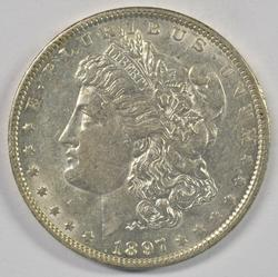 Brilliant near mint 1897-O Morgan Silver Dollar. Scarce