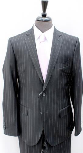 Superb Black stripe Suit, Made By Galante
