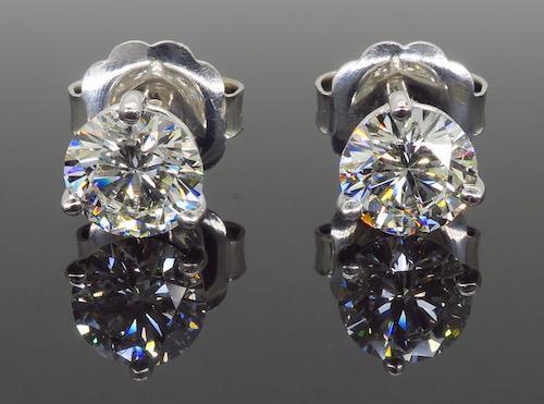 GIA Certified Martini Style 2.75CTW Diamond Earrings