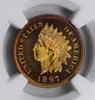 PF67 STAR CAMEO 1897 Indian Head Cent - NGC Graded - RARE