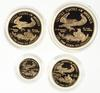 1995 10th Anniversary American Eagle 4 Gold Coins - With Box & COA