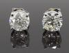 14K White Gold 1.21CTW Diamond Stud Earrings