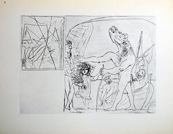 Pablo Picasso Vintage Print Gravure Circa 1956