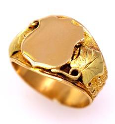 Men's Gold Police Badge Ring, Size 9.25