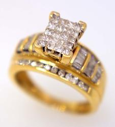 1CTW Diamond Engagement Ring in Gold, Size 6.75